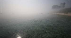 مه زیبای صبحگاهی در کیش